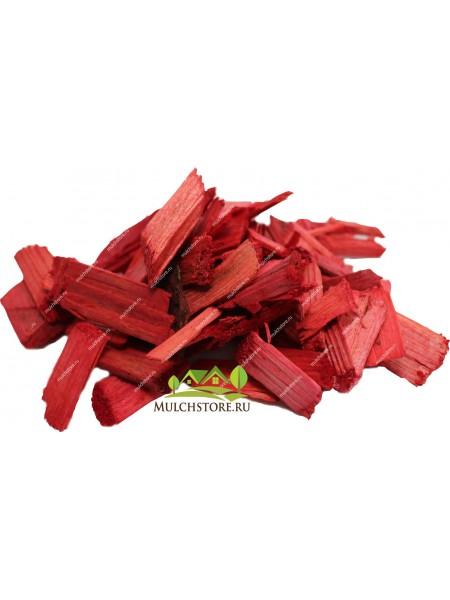 Щепа декоративная красная